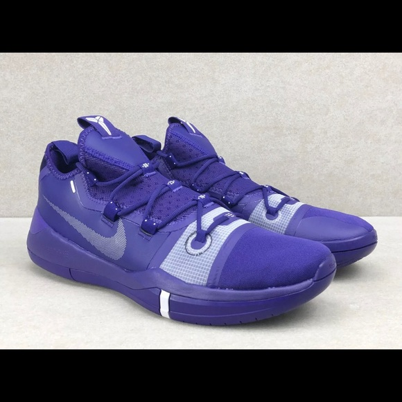 purple and white basketball shoes